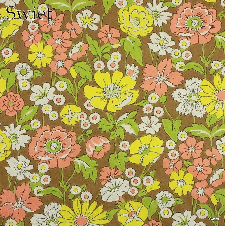 Flashy retro bloemen behang | Swiet Vintage wallpaper