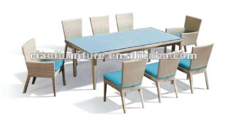 gazebo aluminium garden furniture 8 seater dining table chair set #8_seater_dining_table, #Gardens