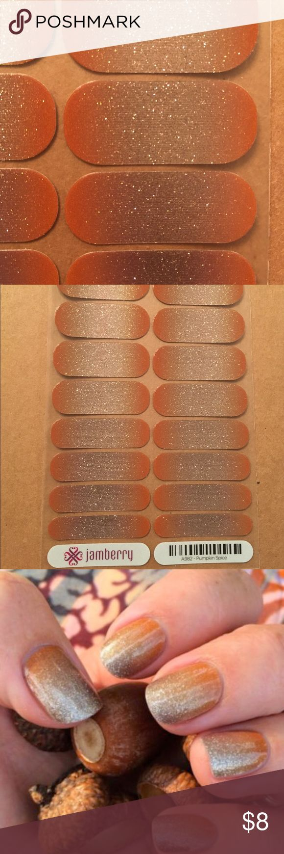 Pumpkin spice Nail wrap Full sheet of Pumpkin Spice Jamberry Nail wraps. Jamberry Other
