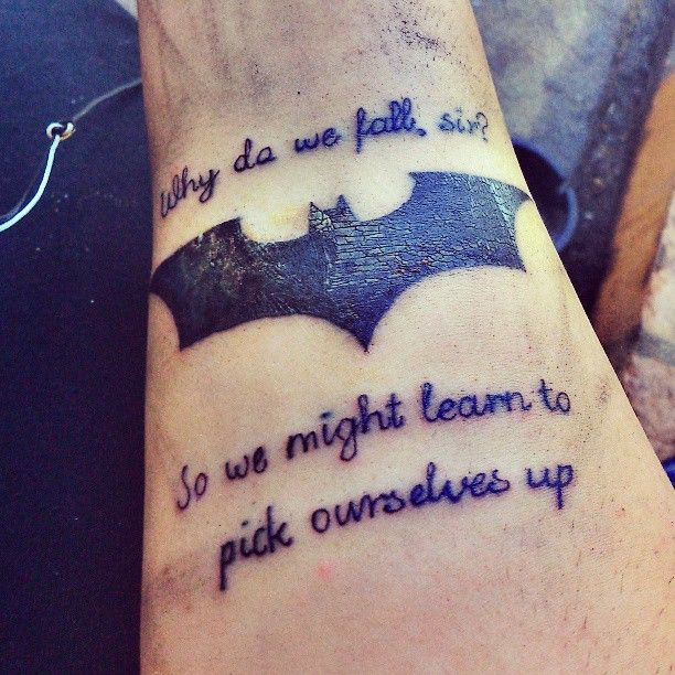 Fave Batman quote. I'd so rock a bat symbol tattoo. @Leyna Cummings I WANT THIS!!!!! can I, huh huh huh?!?!?