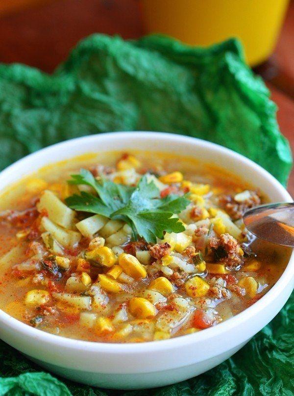Арабский суп с кукурузой