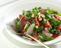Salade thaï au boeuf pimenté : http://www.cuisineaz.com/recettes/salade-thai-au-boeuf-pimente-58456.aspx