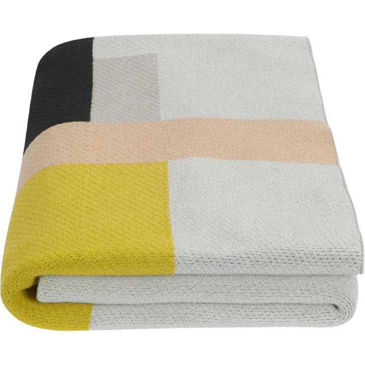 Teva Knitted Throw 130 x 170cm, Multi from Made.com. Multi-Coloured. Graphic Throw..