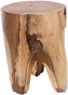 Stool Flint Stone Wood Round