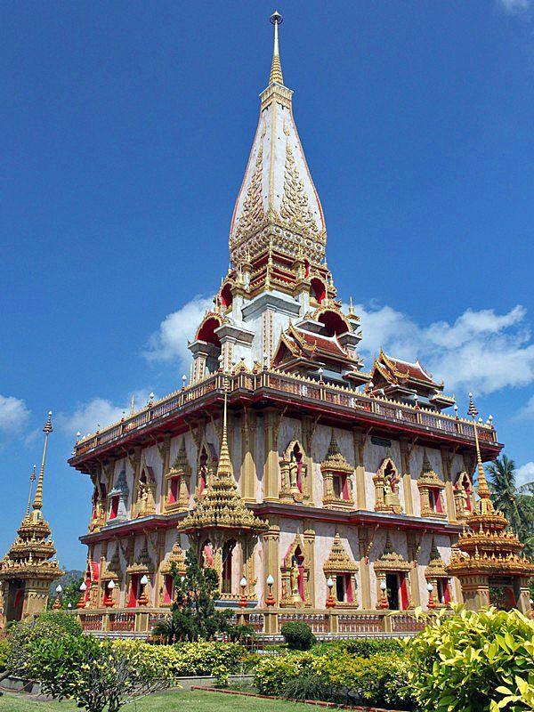 Wat Chalong, Phuket Thailand - Phuket travel tips here: http://www.ytravelblog.com/things-to-do-in-phuket/