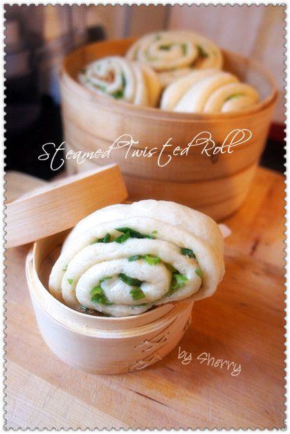 green onion mantou (steamed bun) #Taiwan 蔥花饅頭