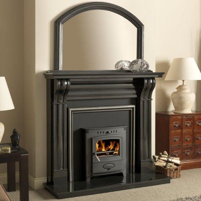 Dublin 60 Inch Corbel Black Granite Fireplace Surround