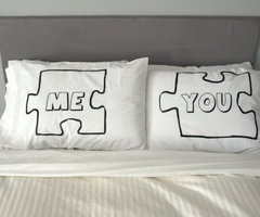 i have these!Gift Ideas, Wedding Shower Gift, Puzzles Piece, Love Quotes, Bedrooms Decor Ideas, Pillows, Bedrooms Ideas, Wonder Life, Wedding Couples