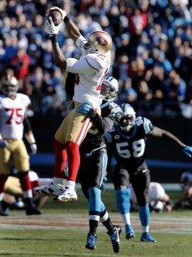 Crabtree with a big catch during NFL division game 49ers 23 Carolina Panthers 10