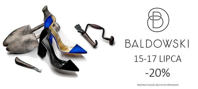 MEGA PROMOCJA! Od dziś do 17.07 wszystkie buty marki BALDOWSKI aż 20% taniej! Zapraszamy na zakupy! http://zebra-buty.pl/obuwie/baldowski