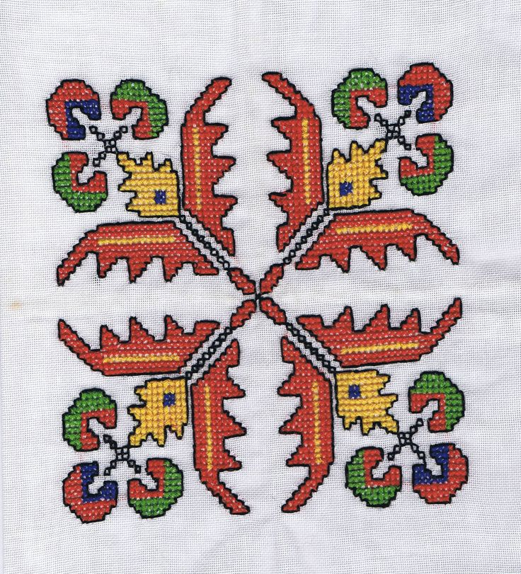 Centre detail of Croatian tablecloth my aunt gave me in 1980.