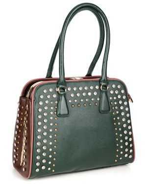 Italian Chunky Diamante Trim Bag Green R1,199, buy it here: http://www.nicci.co.za/list.php?c=0&p=29