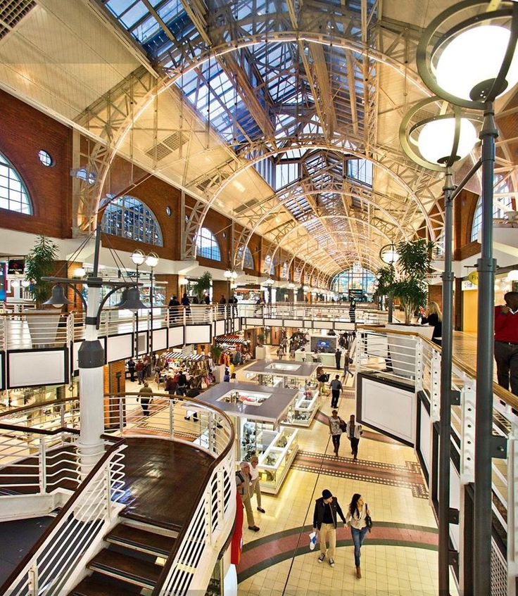Interior of the popular Victoria and Alfred Waterfront shopping mall - a magnet for tourists.