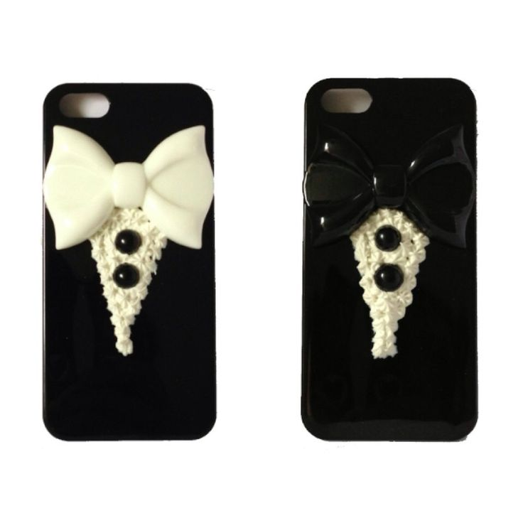 Cute Tuxedo Case Cover for iPhone5 or 5s (Ready to be shipped) by PepperAndSoda on Etsy #cool #decoden #sweetdeco #tuxedo #phonecase #iphone