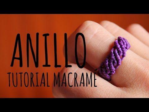 como hacer un anillo en macrame redondo rasta - YouTube