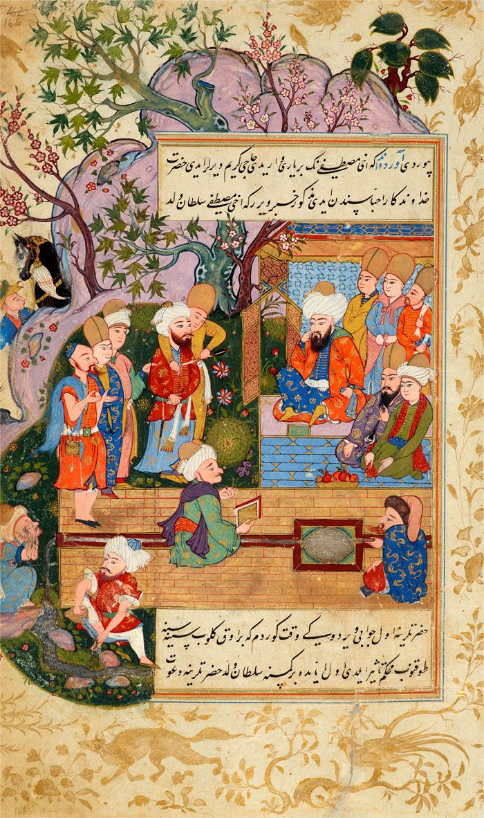 A Confrontation of Akhī Mustafā | Tarjuma-i Thawāqib-i manāqib (A Translation of Stars of the Legend), in Turkish | Iraq, Baghdad | 1590s | The Morgan Library & Museum