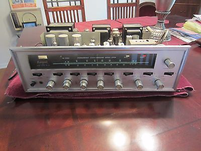 VINTAGE-SANSUI-TUBE-POWERED-TUNER-AMPLIFIER-MODEL-1000-A-W-O-COVER-POWERS-UP-NR