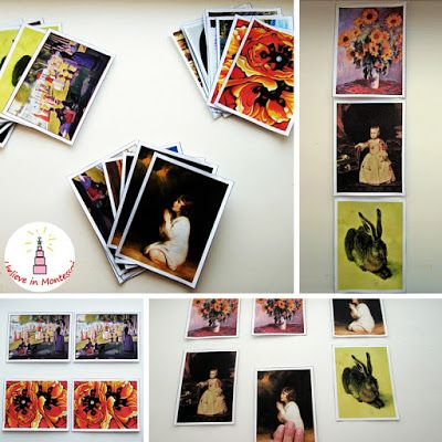 Art Appreciation: Level 2. Montessori Famous Paintings Matching Cards