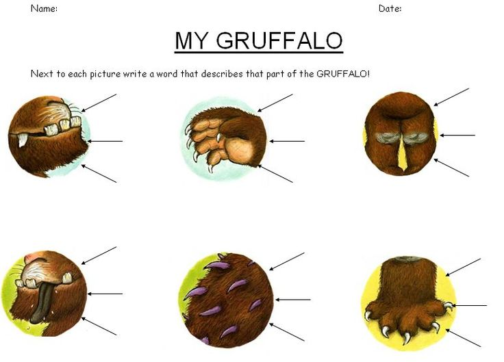 The Gruffalo worksheets - Worksheets based around Julia Donaldson's The Gruffalo, useful when looking at grammar and punctuation.: Teaching Resources, Worksheets Based, Monstre, Gruffalo Worksheets, The Gruffalo, Tess Worksheets