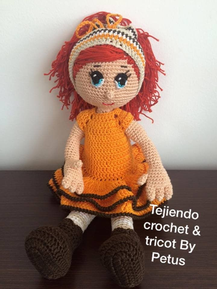 Vestido muñeca  parte 2 técnica amigurumi paso a paso