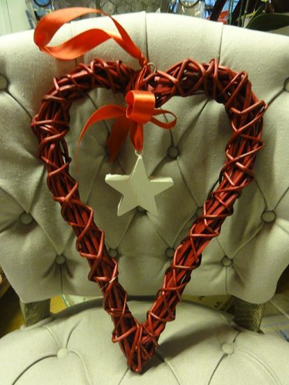 Star in a heart decoration
