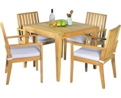 Elegance In-outdoors 5pc Teak Fining Setting