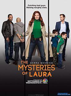 Тайны Лауры / The Mysteries of Laura Лаура Даймонд — блестящий детектив из отдела убийств департамента полиции Нью-Йорка. Каждый день ей приходится справляться не только со своей нелегкой работой, но и с сумасшедшей семейной жизнью — у нее двое непослушных мальчиков-близнецов и муж-полицейский, с которым они вот-вот должны развестись.