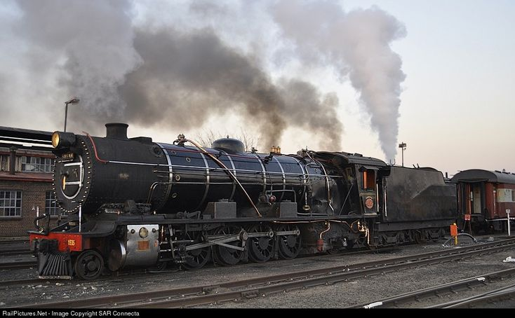 RailPictures.Net Photo: SAR No. 1535 Reefsteamers Association SAR Class 12AR at Johannesburg, South Africa by SAR Connecta