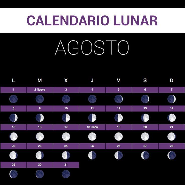 Calendario Lunar agosto