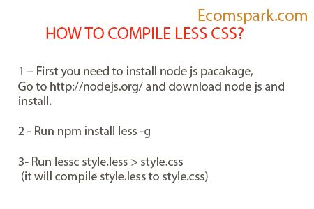 How to compile LESS CSS ,Compile LESS to CSS, |