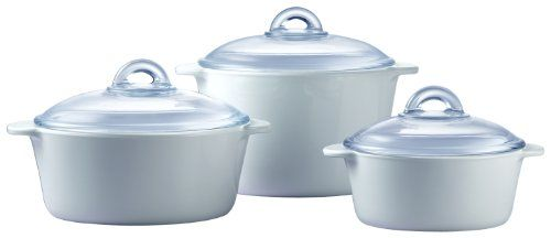 From 46.92 Pyroflam Round Casseroles With Lids Set Of 3