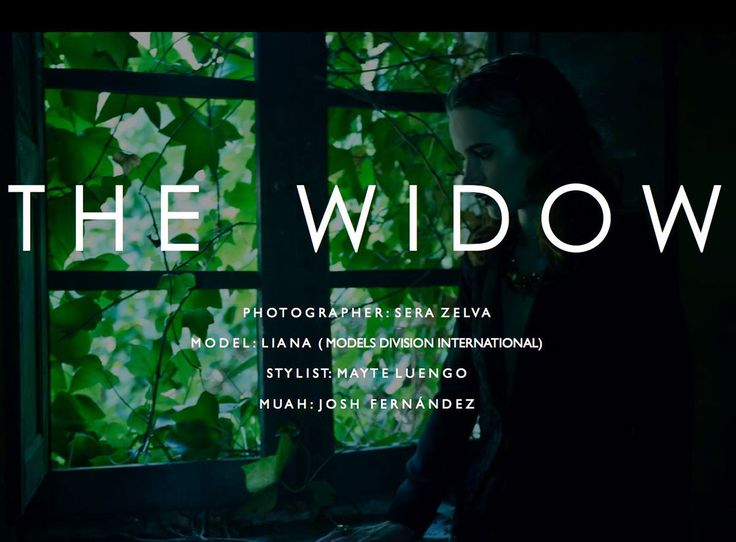 THE WIDOW by Mayte Luengo on Behance