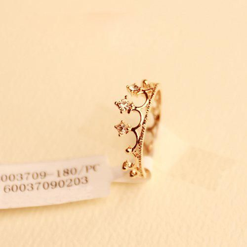 Wholesale Band Rings - Buy Sunshine Store Jewelry Rhinestone Studded Crown Finger Ring J125 min Order $10 , $0.46 | DHgate