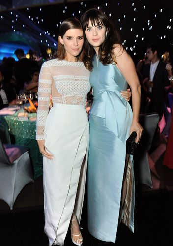 Kate Mara and Zooey Deschanel #Emmys