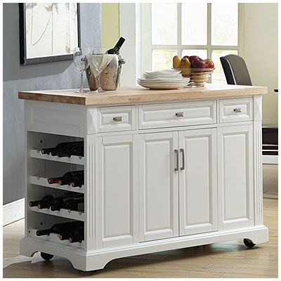 3Drawer White Kitchen Cart at Big Lots  future home