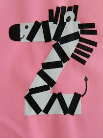 the vintage umbrella: Preschool Alphabet projects... Q-Z Maybe cut the black stripes in the shape of zig zags