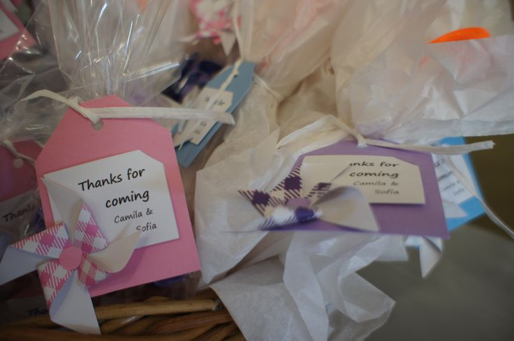 Pinwheel party - Thank you tags