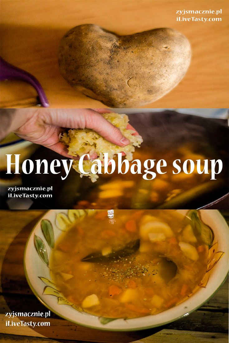 Honey cabbage soup recipe