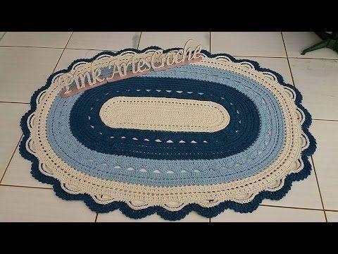 Vídeo Aula Tapete gigante parte 2 -Pink Artes Croche by Rosana Recchia