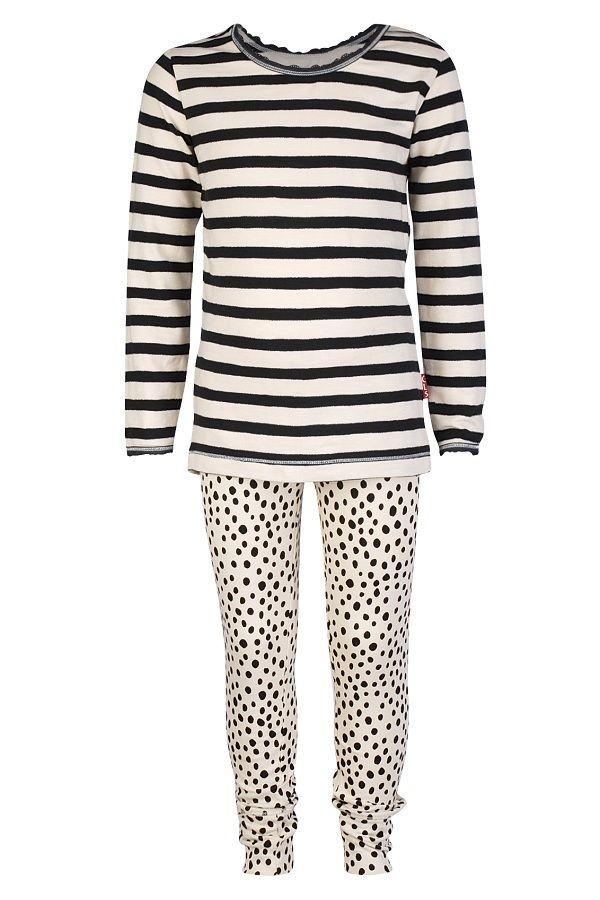 Claesen's pyjama voor meisjes Night Stripes Dalmatier, zand