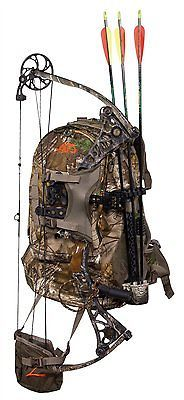 Hunting Backpack Bow Archery Rifle Hiking Camping Tactical Realtree Camo Bag
