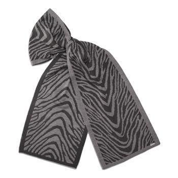 Calvin Klein Women's Black/Grey Zebra Reversible Scarf