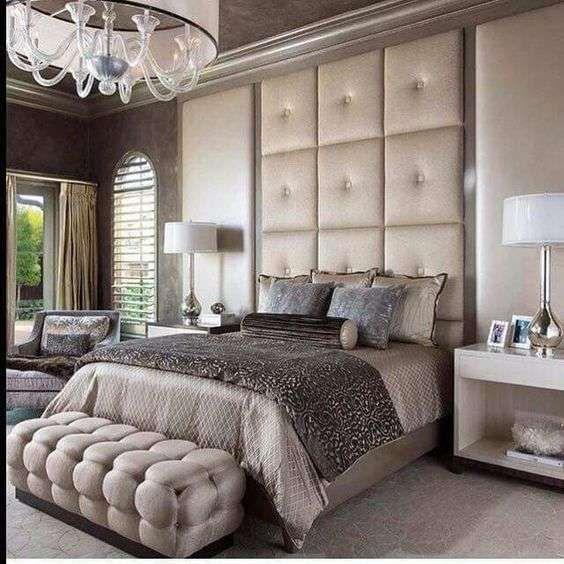 Idee per arredare la camera da letto con il color champagne - Camera matrimoniale champagne