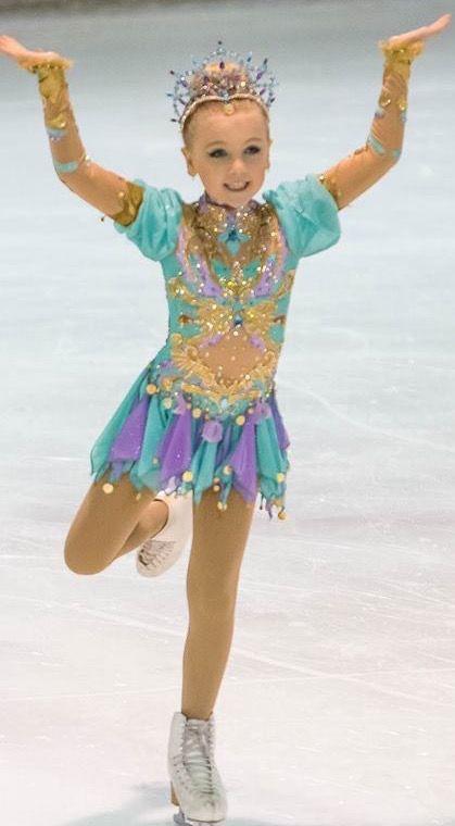 Princess Jasmin Figure Skating dress. Custom made. Designed by Frozen Couture.
