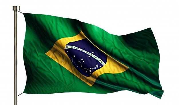 Baixe Bandeira Nacional Do Brasil Isolada 3d Fundo Branco