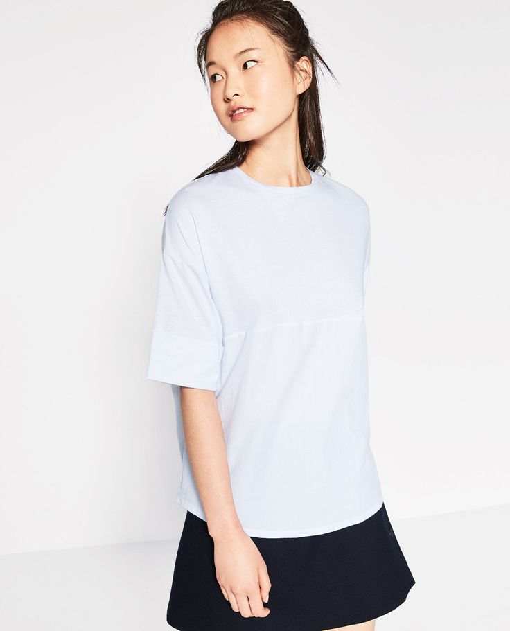 ZARA - TRF - STRIPED T-SHIRT WITH TEXT