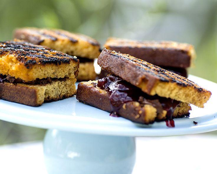 grillede sjokoladesandwicher