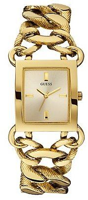GUESS Gold-Tone Sophisticated Polished Links Watch on shopstyle.com