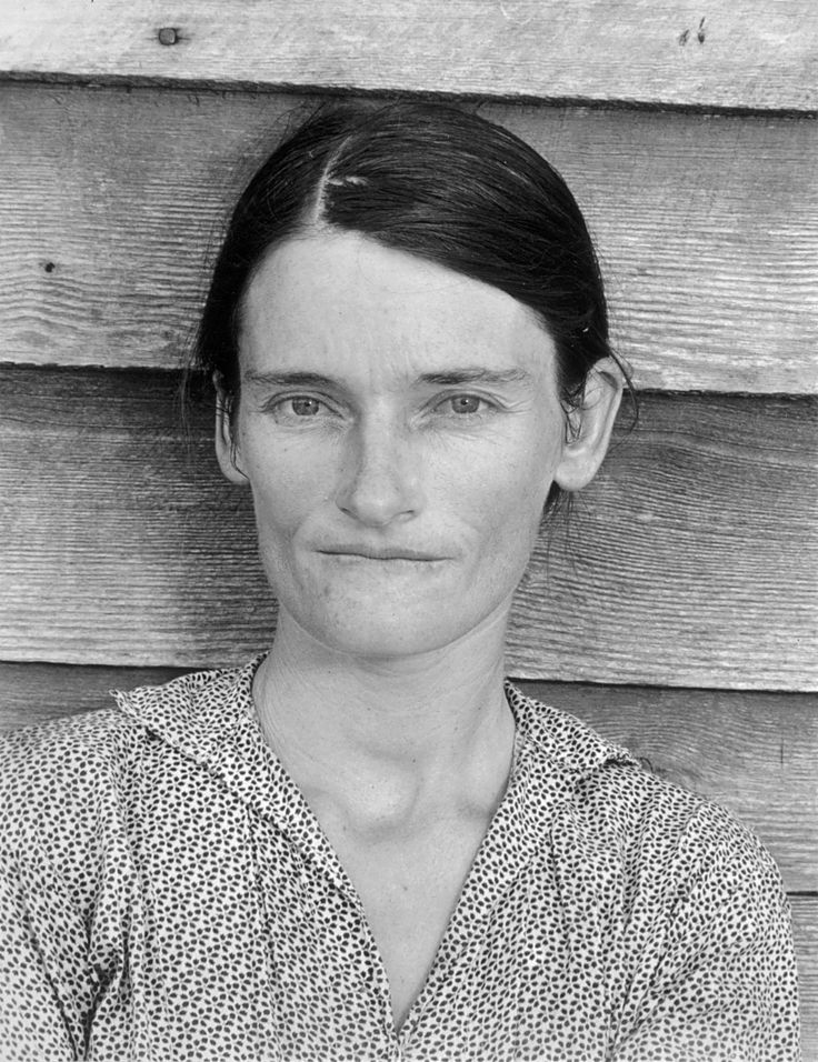 Evans' portrait of Allie Mae Burroughs from his Hale County, Alabama work with James Agee, Let Us Now Praise Famous Men