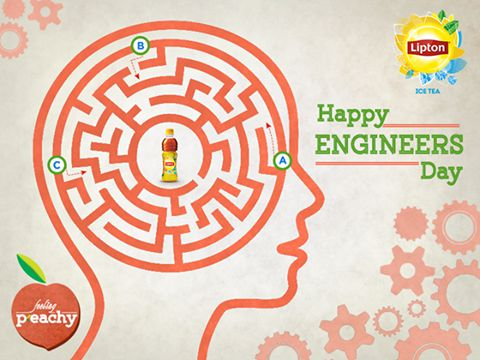 Engineer's!! Remember your Exams?? A cup of tea made you awake whole night. Lipton tributes the engineer's community in his own style.  ‪#‎HappyEngineersDay‬